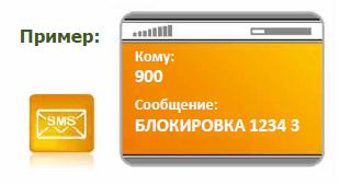Рисунок 3. Пример СМС для блокировки банковской карты.