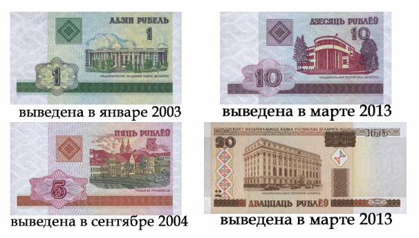 Рисунок 10. Купюры, которые были выведены из обращения за последние 10 лет.