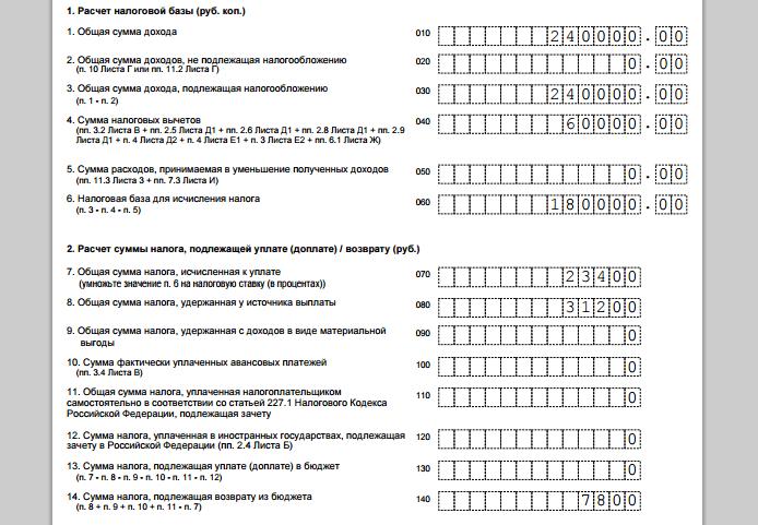 Рисунок 4. Раздел 2. Расчет налоговой базы