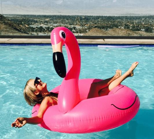 Детский круг для плавания Фламинго