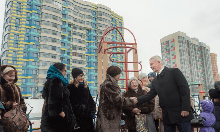 Встреча Собянина с жильцами