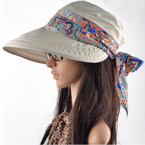 Женская пляжная кепка с большим козырьком