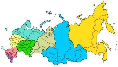 Рисунок 3. Карта РФ