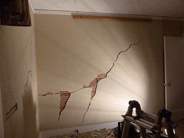 Рис 4. Треснувшая стена
