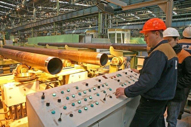 Рисунок 2. Производственный процесс на заводе ТМК