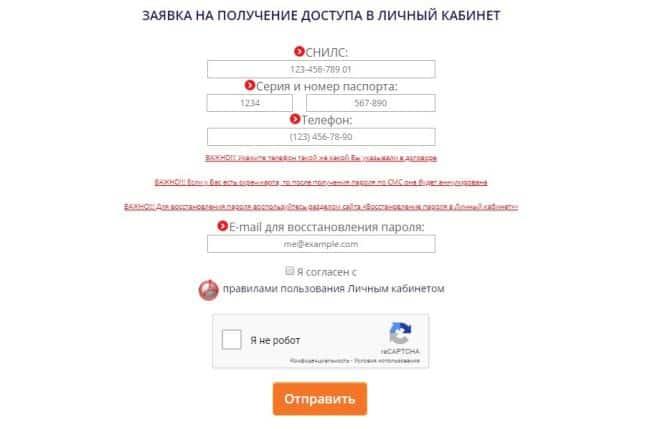 Рис.5. Регистрация в системе