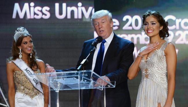 Рис. 3. Дональд Трамп на Мисс Вселенная