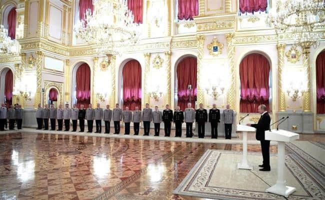 Рис. 2. Президент обозначил цели и задачи для руководящего состава национальной гвардии
