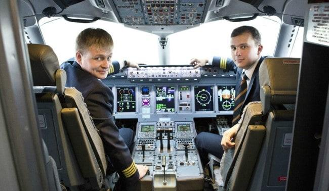 Рис. 2. В кабине самолета «Аэрофлота»