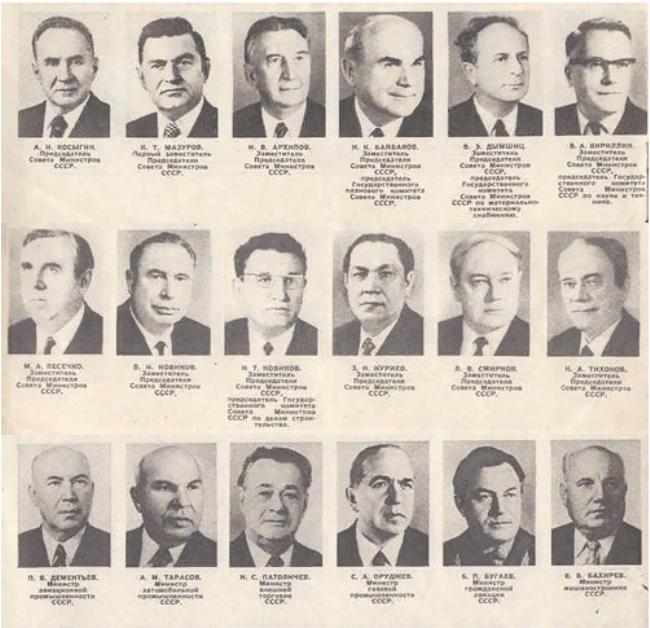 Рис. 6. Совет министров СССР