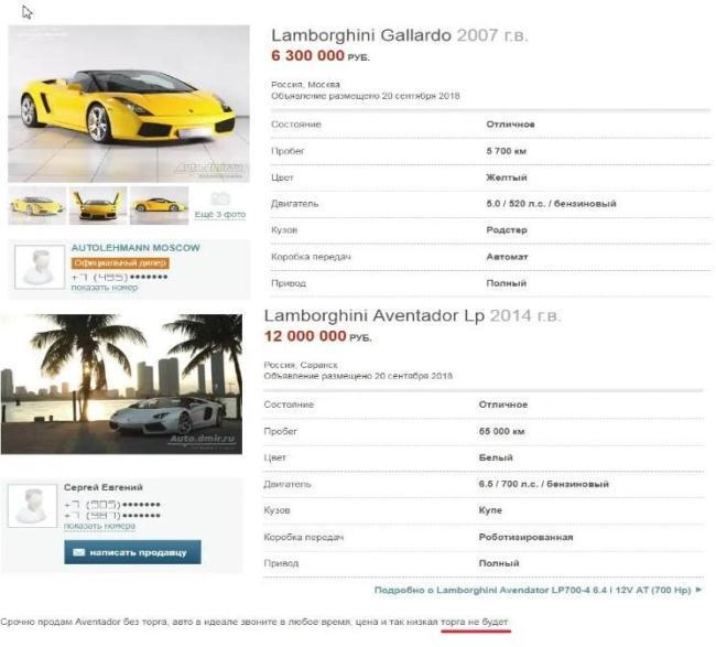 Рис.1 Скриншот российского портала о продажах