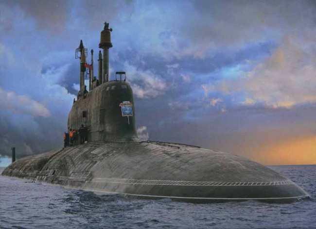 Рисунок 2. Атомная подводная лодка