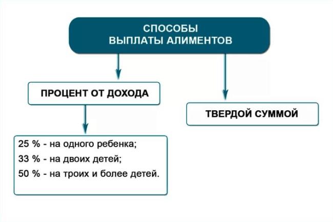 Рис. 1. Способы выплаты алиментов. Источник: famadviser.ru.
