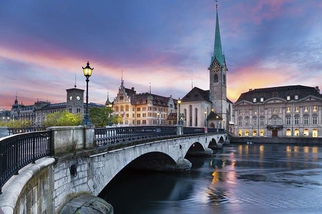 Рис. 3. Цюрих – экономический центр мира