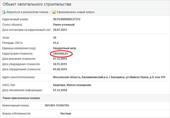 Рис. 5. Готовый отчет. Источник: rosreestr.ru.
