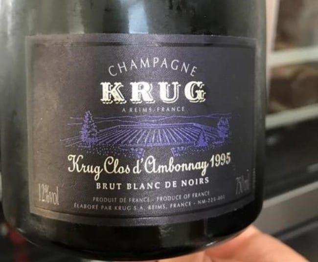 Рисунок 2. Champagne Krug Clos D'Ambonnay 1995 года