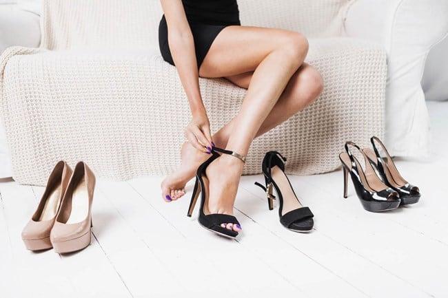 Рисунок 3. Осторожно: туфли могут послужить причиной окрашивания ступней или одежды