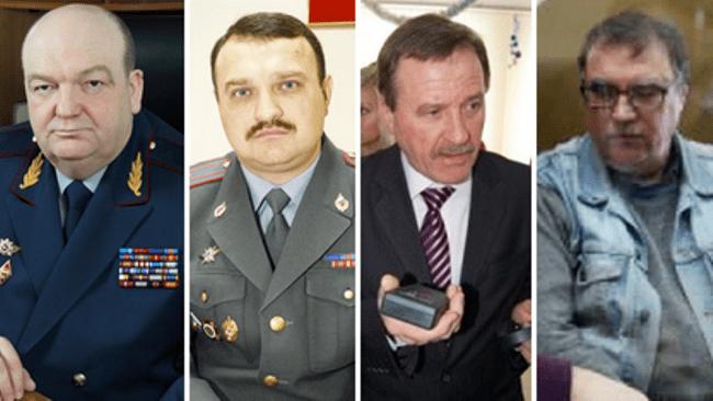 Рисунок 3. Слева направо: Александр Реймер, Николай Криволапов, Николай Мартынов, Виктор Определенов