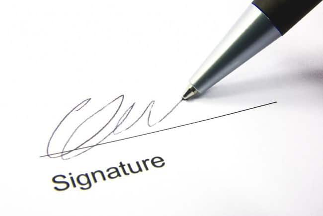 Рисунок 7. Подписание документов
