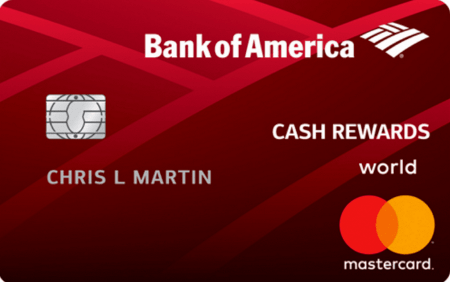 Рис. 1. Cash Rewards Credit Cards от Bank of America