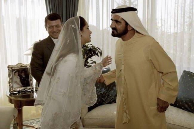 Рис. 2. Шейх Мохаммед бин Аль Мактум и принцесса Саламе