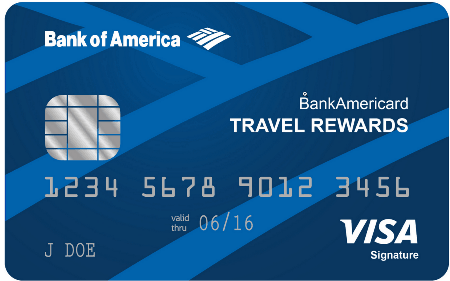 Рис. 2. Travel and Airlines Rewards Cards от Bank of America