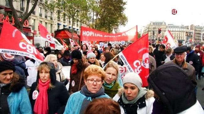 Рис. 3. Французские медики требуют повышения зарплаты