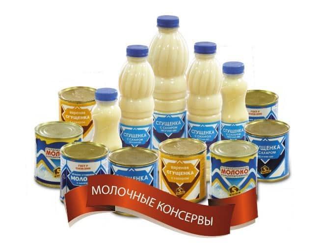 Рисунок 2. Сгущенное молоко выпускается в различной таре.