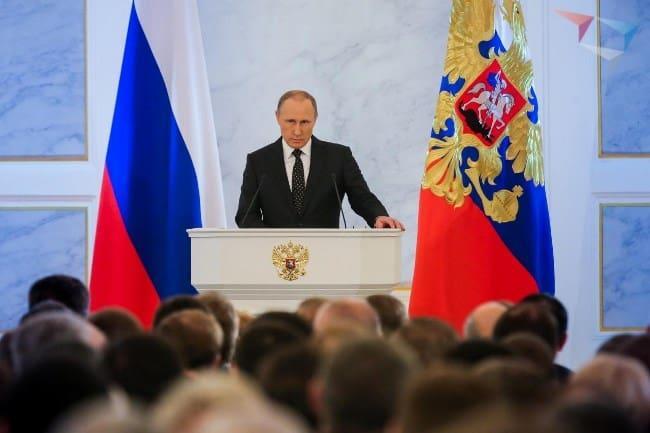 Путин выступит с посланием Федеральному собранию в 2019 г. 20 февраля