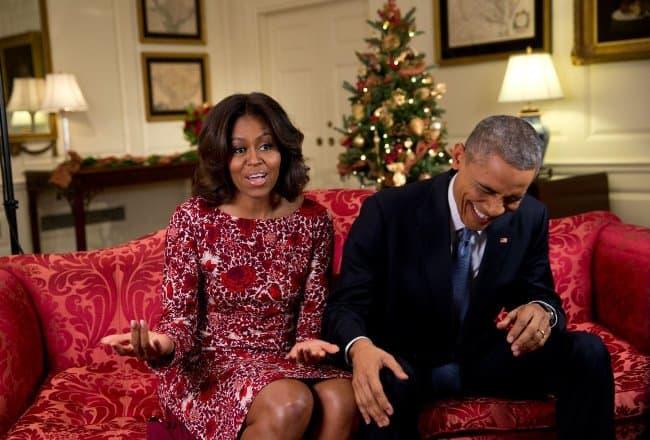 Рис 2. Барак и Мишель Обама. После президентства бывший глава Америки проводит много времени с семьей.