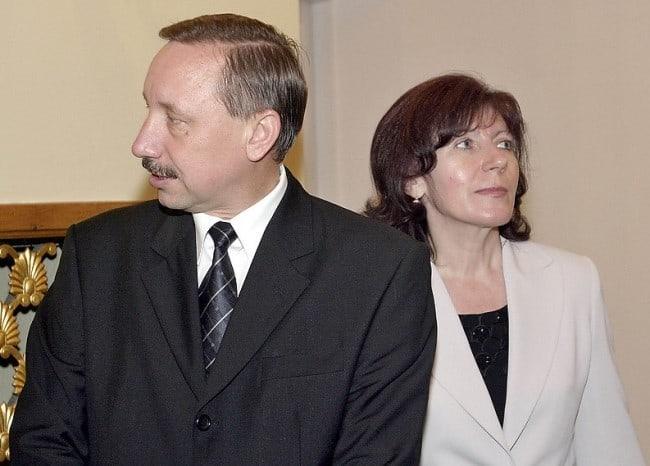 Рисунок 2. Руководитель Петербурга с женой (архивное фото)