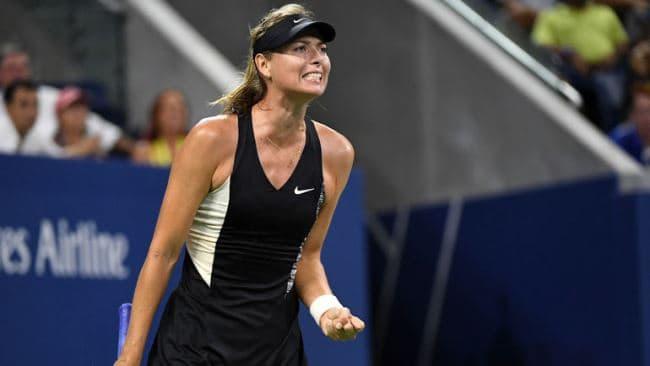 Рисунок 3. Мария Шарапова на US Open 2018