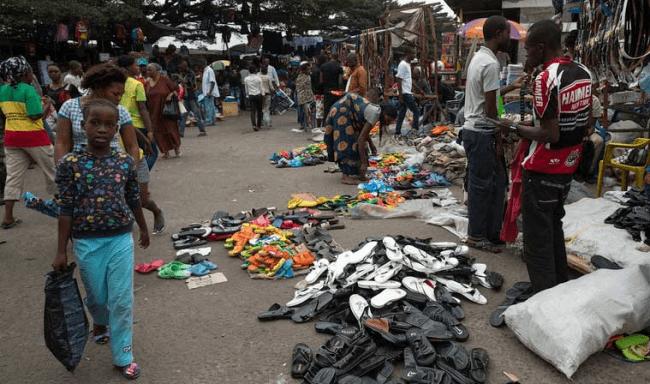 Рисунок 7. Торговля в Киншасе, столице Демократической Республики Конго