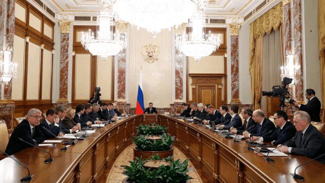 Рис. 1. Заседание нового правительства РФ
