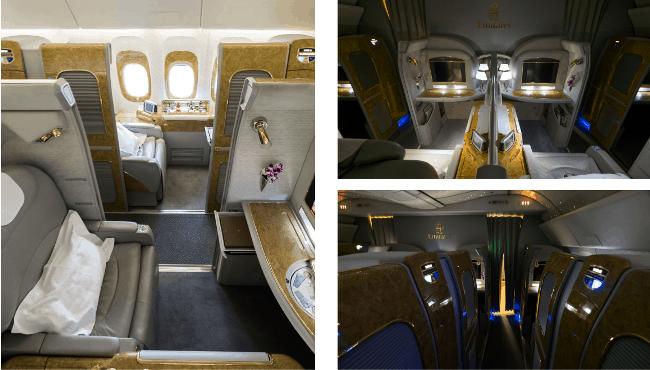 Рис. 12. Роскошные каюты Emirates Airlines