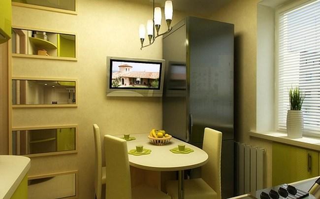 Рис. 2. Для кухни и маленьких комнат вполне подойдет недорогой телевизор с небольшим экраном