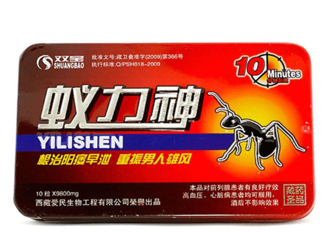 Рис. 2. Китайские таблетки для мужской потенции с муравьиной кислотой