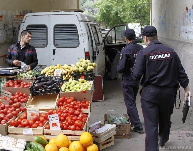 Рис. 2. Полиция имеет право конфисковать товар