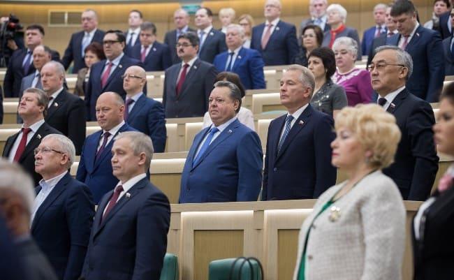 Рис. 2. В Совете Федерации