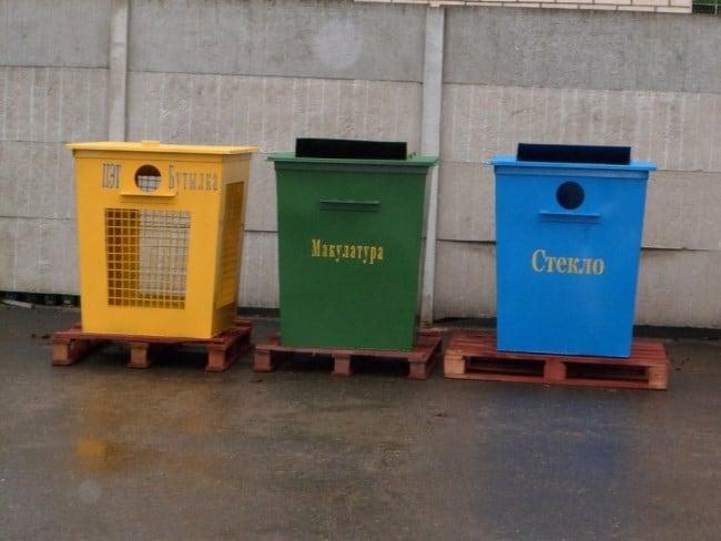 Рис. 2. Все больше появляется площадок с контейнерами, где мусор сортируется по видам.