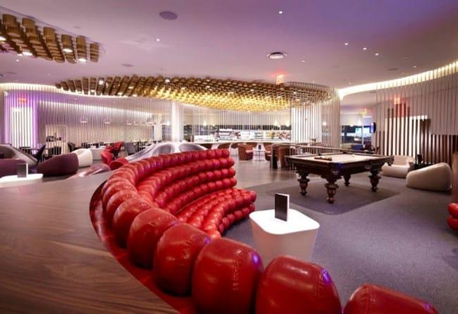 Рис. 3. Аэропорт John F. Kennedy в Нью-Йорке, лаунж Virgin Atlantic JFK Clubhouse