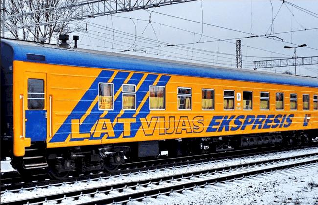 Рис. 3. Поезд в Латвию