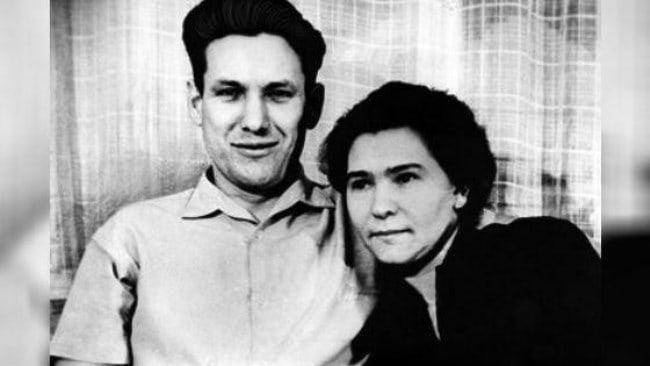С будущей супругой, 1954 г.