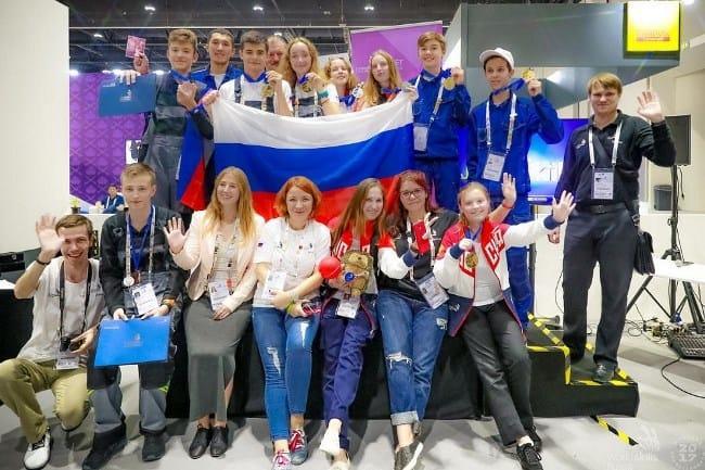 Рис. 6. Российская команда – участники WorldSkills 2017 г.