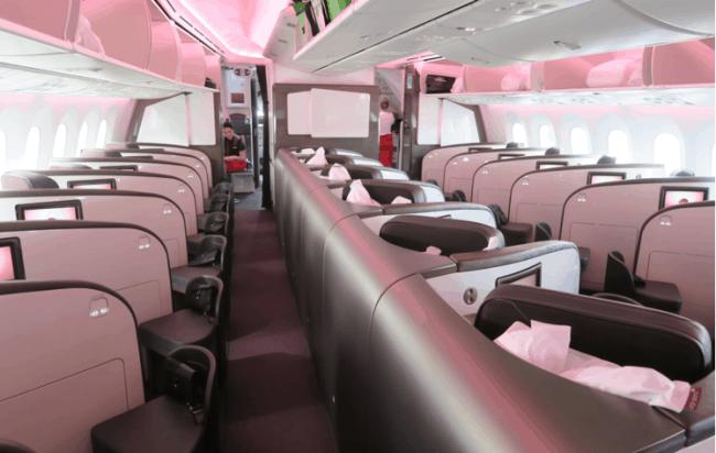 Рис. 7. Высший класс в Virgin Atlantic