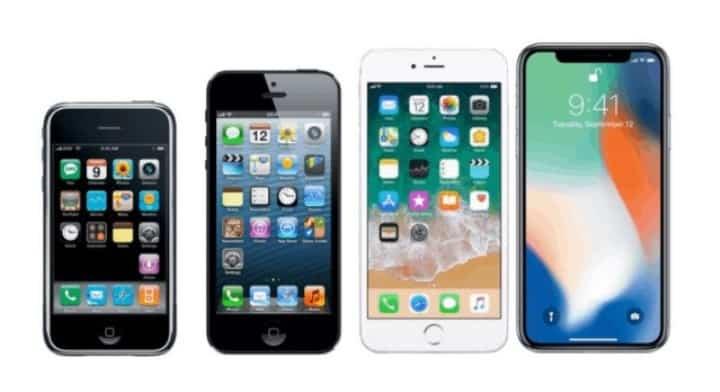 Рисунок 1. Как изменился iPhone за 12 лет