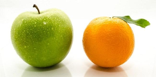 Рисунок 1. Яблоки и цитрусовые — основные источники пектиновых веществ
