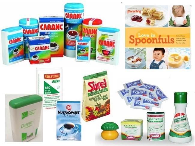 Рисунок 2. Сахарозаменители и продукты на основе E951
