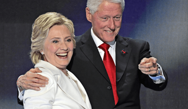 Рисунок 2. Супруги Клинтон
