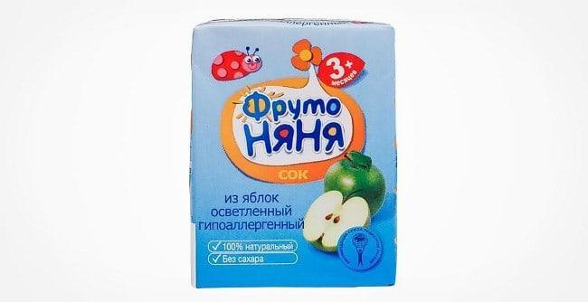 Рисунок 2. Яблочный сок «ФрутоНяня» признан экспертами «Роскачества» одним из лучших на отечественном рынке